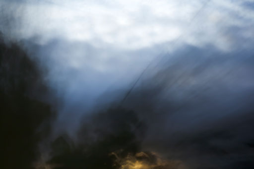 photographic abstract of landscape and trees