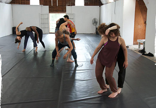 Dancers rehearsing in a studio