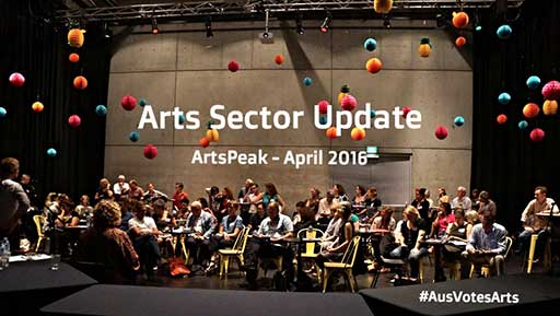 Arts Sector update. ArtsPeak—April 2016