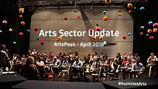 Arts Sector update. ArtsPeak—April 2016