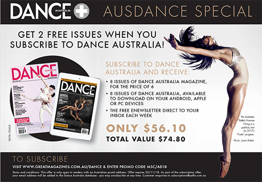 Dance Australia subscription special