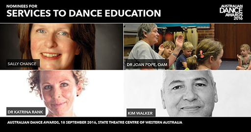 Nominee collage for Services to Dance Education