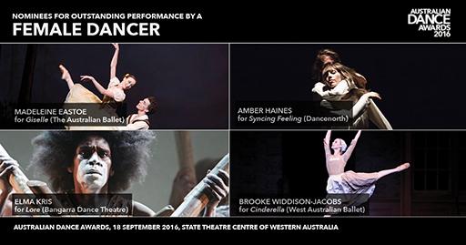 Female dance collage