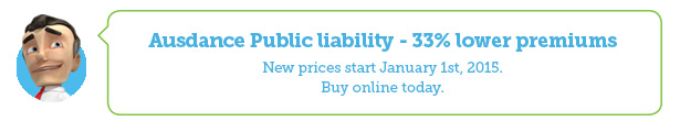 Ausdance Public liability–33% lower premiums. New prices start January 1st, 2015. Buy online today.