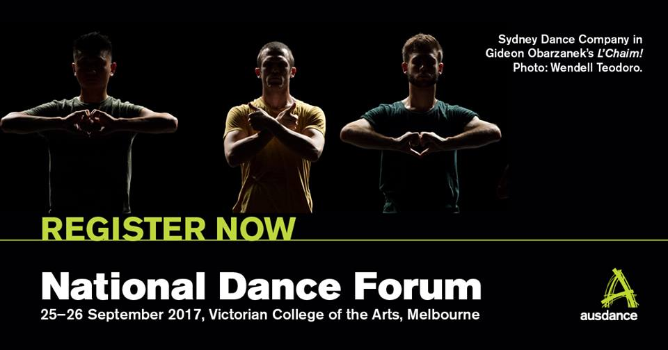 Registrations open for National Dance Forum 2017
