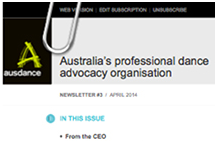 Ausdance National newsletter